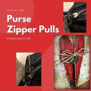 HANDBAG ZIPPER PULLS